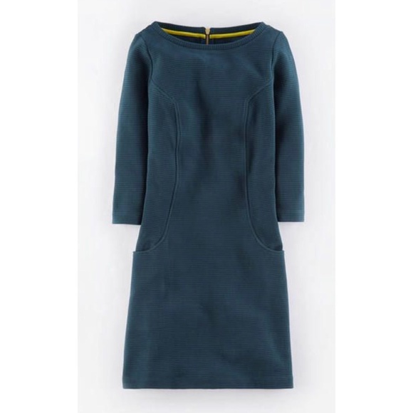2ce8bbe5102 Boden Dresses   Skirts - Boden Ottoman Ribbed Shift Dress in Teal